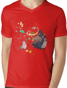 Ink - Totoro Mens V-Neck T-Shirt