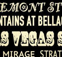Las Vegas Famous Landmarks Sticker