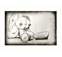 Creepy bunny Art Print