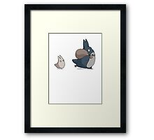 No ink - Totoro Framed Print