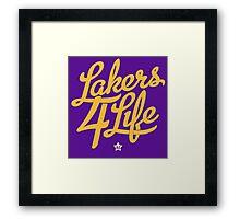 Lakers 4 Life Framed Print