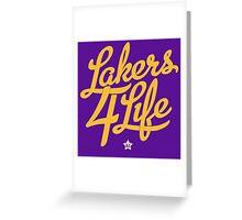 Lakers 4 Life Greeting Card
