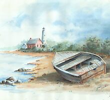Tawas Point Light House by Robin (Rob) Pelton
