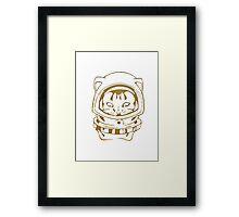 OLD SCHOOL SPACE CAT SMARTPHONE CASE (Graffiti) Framed Print