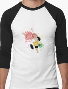 ink - Ponyo&Sasuke Men's Baseball ¾ T-Shirt