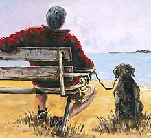 Man with Brown Dog by Robin (Rob) Pelton