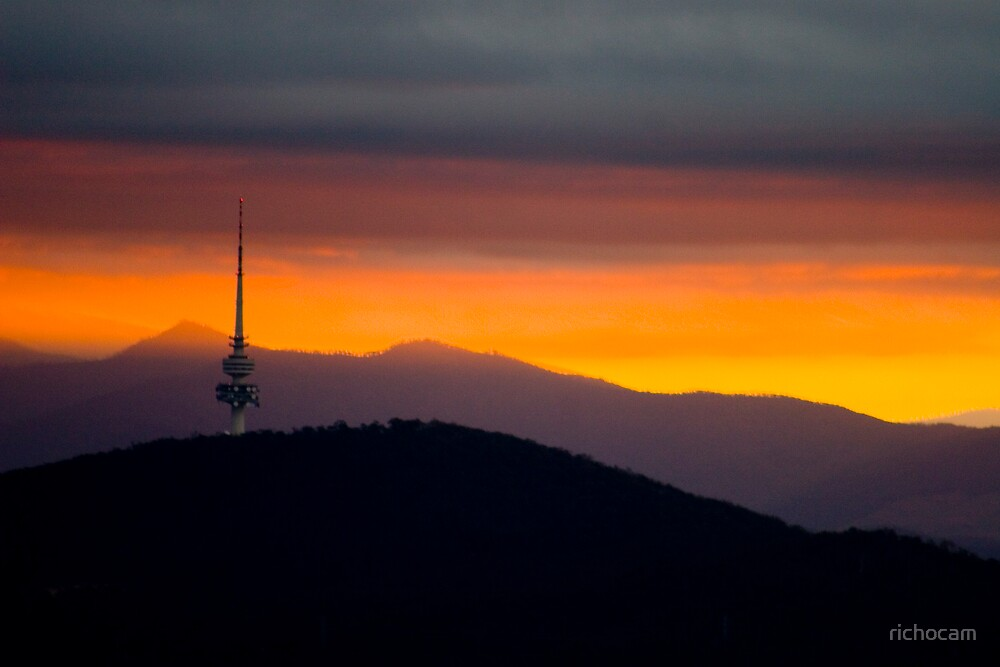Black Mountains, Orange Sky by richocam