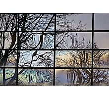 Abstract Window Reflection Photographic Print