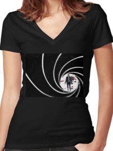 Graphic Bond, James Bond Women's Fitted V-Neck T-Shirt
