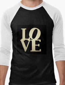 Love Park Philadelphia Sign Men's Baseball ¾ T-Shirt