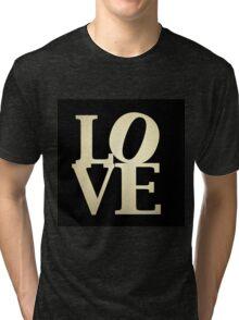 Love Park Philadelphia Sign Tri-blend T-Shirt