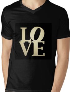 Love Park Philadelphia Sign Mens V-Neck T-Shirt