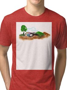 Mother Nature's Watching us.. Tri-blend T-Shirt