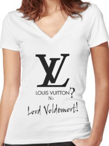 Lord Voldemort Women's Fitted V-Neck T-Shirt