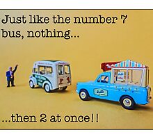 Just like the number 7 bus... by Tim Constable by Tim Constable