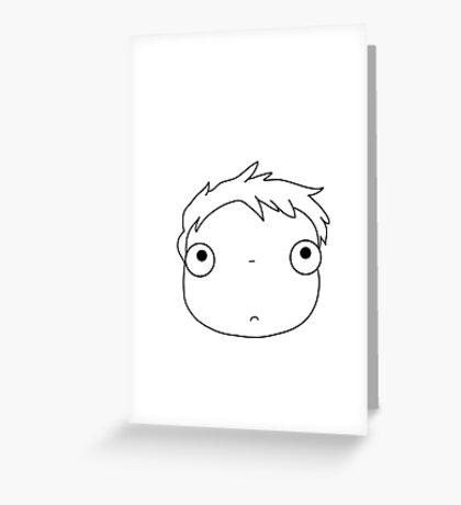 little ponyo Greeting Card