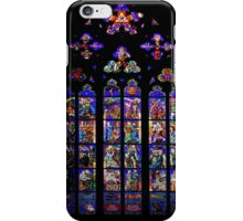 Stained Glass - Prague, St. Vitus Cathedral 2 iPhone Case/Skin