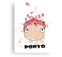 Little Ponyo ink Canvas Print