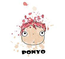 Little Ponyo ink Photographic Print