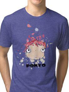 Little Ponyo ink Tri-blend T-Shirt