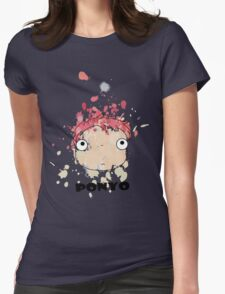 Little Ponyo ink Womens Fitted T-Shirt