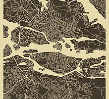 STOCKHOLM MAP by JazzberryBlue