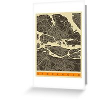 STOCKHOLM MAP Greeting Card