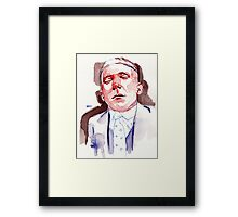 Refused to open his eyes (M.O.C) Framed Print