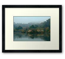 Morning, Lake Daylesford Framed Print