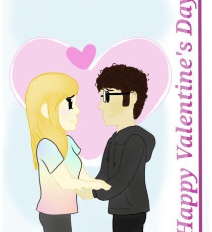 Valentine's Day Couple Sticker