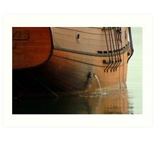 Hull,Tall Ship Art Print