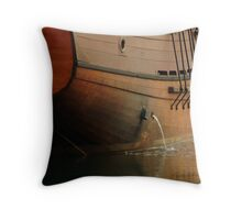 Hull,Tall Ship Throw Pillow