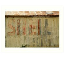 Old Workshop,Shell Signage Art Print