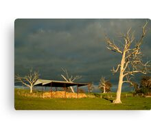 Sunrise Storm Clouds Rowsley Valley Canvas Print