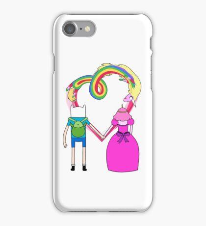 Adventure Time - Finn and Bubblegum in Love iPhone Case/Skin