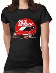 CIVIC EF 90'S ATTACK Womens Fitted T-Shirt