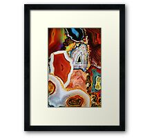 Agates, Layers of Earth, Nature's Colorful Imagination Framed Print