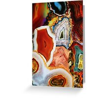 Agates, Layers of Earth, Nature's Colorful Imagination Greeting Card