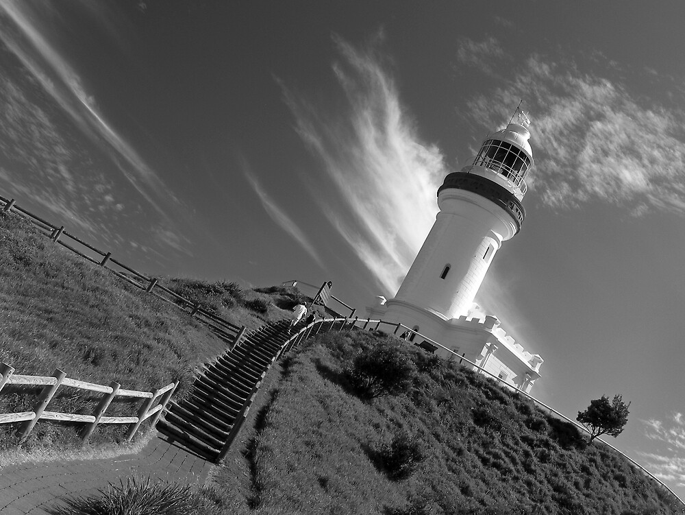 Lighthouse at Byron by Laz Moutafis