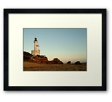Dusk Pt Lonsdale Lighthouse Framed Print