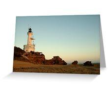 Dusk Pt Lonsdale Lighthouse Greeting Card