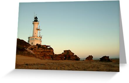 Dusk Pt Lonsdale Lighthouse by Joe Mortelliti