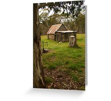 Davies High Plains Hut Hugh Country Greeting Card