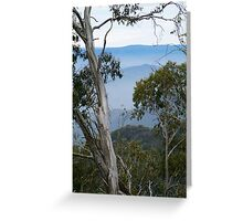 High Country Fog Layers Greeting Card