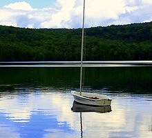 Sailboat Reflection by John Butler