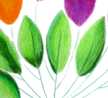 Seven colorful tulips Sticker