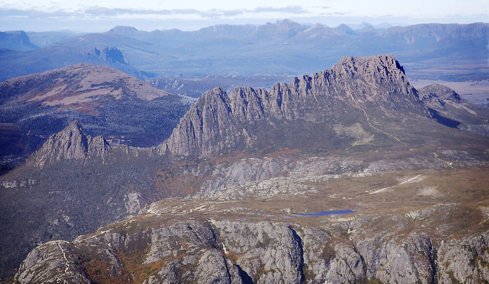 Cradle Mountain from the air by Mark Williamson