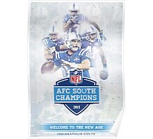 2013 AFC South Champions - Indianapolis Colts Poster