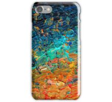 ETERNAL TIDE 2 Bold Rainbow Colorful Deep BlueTurquoise Aqua Orange Yellow Ombre Waves Abstract Acrylic Painting iPhone Case/Skin