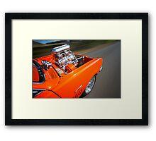 Orange Holden HG Monaro GTS rig shot Framed Print